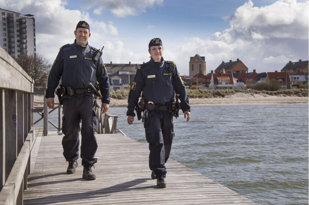 Policemen in harbour